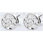 Orecchini Elga - Oro bianco - 9 carati - Diamanti