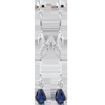 Orecchini Evina - Oro bianco - 9 carati - 2 Zaffiri - 0.55 carati