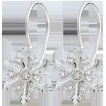 Orecchini - Fiocco Australe - Oro bianco - 9 carati - 14 Diamanti