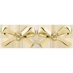 Orecchini Fiocco Carlotta - Oro giallo - 9 carati - 4 Diamanti