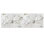 compra Orecchini Fiocco dell'Eden - Oro bianco - 9 carati - 10 Diamanti