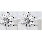 Orecchini Freschezza - Dalia - oro bianco 9 carati e diamante