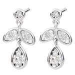 gioiellerie Orecchini Hesmé - Oro bianco - 9 carati - 10 Diamanti - 0.12 carati