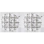 Orecchini New York - Oro bianco - 9 carati - 24 Diamanti