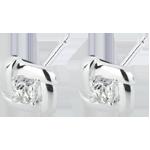 Orecchini Nidi d'Oro bianco - Oro bianco - 18 carati - 2 Diamanti - 0.11 carati