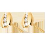 Orecchini Nido Prezioso - Trilogia parentesi - Oro giallo - 18 carati - 6 Diamanti