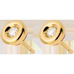 Orecchini Punto luce diamante - Calice - Oro giallo - 18 carati - Diamanti - 0.17 carati