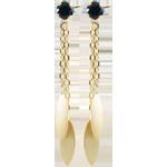 Orecchini Sakari - Oro giallo - 9 carati - 2 Zaffiri - 0.32 carati