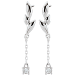 Orecchini Soffio Leggero - Oro bianco - 18 carati - 2 Diamanti