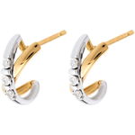 oreficeria Orecchini Trilogy Cerchio - Oro bianco e Oro giallo - 18 carati - 6 Diamanti