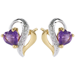 weddings Ouaki Amethyst Earrings