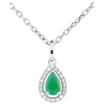 on-line buy Pear-shaped Indian Emerald Pendant