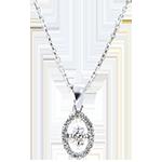 Pendant Abundance - Small Drop - white gold 18 carats and diamond