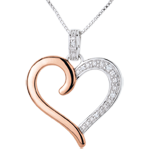 wedding Pendant Amazon Heart - Pink gold