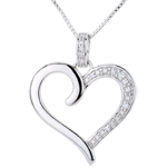 women Pendant Amazon Heart - White gold