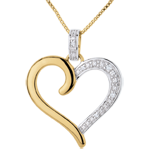 gold jewelry Pendant Amazon Heart - Yellow gold