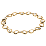 Pendant bracelet yellow gold - 8 diamonds