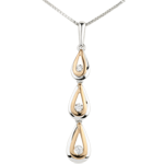 sell Pendant Dewdrop variation - white gold. rose gold - 9 carat