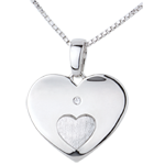 on line sell Pendant Hearts Together - White gold
