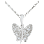 buy on line Pendant Imaginary Walk - Butterfly Musician - White Gold