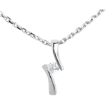 sales on line Pendant Precious Nest - Apostrophe diamond - white gold - 0.09 carat - 18 carats