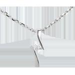 Pendant Precious Nest - Apostrophe diamond - white gold - 0.09 carat - 18 carats