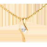 mariage Pendentif apostrophe diamant - or jaune - 0.09 carat