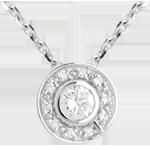 mariages Pendentif bouton or blanc - 0.19 carat