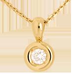 Pendentif Calice belière or jaune 18 carats - 0.28 carat