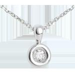bijou or Pendentif Calice diamant belière - 0.23 carat