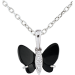 wedding Pendentif Clair Obscure - Onyx Butterfly