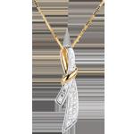 cadeau femme Pendentif Doux Noeud - 10 diamants