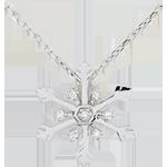 Pendentif Flocon Austral - or blanc 9 carats