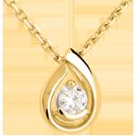 vente Pendentif larme diamant - or jaune - 0.21 carats