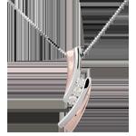 bijouterie Pendentif Nid Précieux - Trilogie diamant - or rose, or blanc - 3 diamants - 18 carats