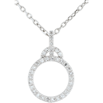 Pendentif Onphale - or blanc 9 carats