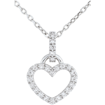 acheter on line Pendentif or blanc Coeur d'Onphale