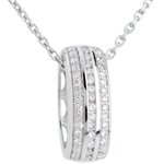 vente on line Pendentif roue diamants - or blanc 18 carats - 0.27 carats