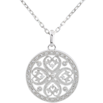 bijoux or Pendentif Sublime Tahia - 37 diamants