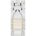 Pendientes Brisa Ligera - dos oros - oro blanco y oro amarillo 18 quilates