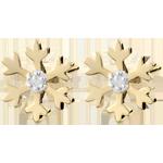 joyerías Pendientes Copo de nieve - oro amarillo