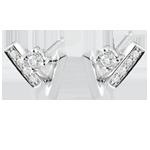 Pendientes diamantes Glaseados - oro blanco 9 quilates
