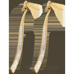 Pendientes Fénix oro amarillo 18 empedrados