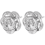 Pendientes Frescura - Rose Dentelle - oro blanco y diamantes