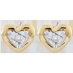 Pendientes Pico corazones - oro amarillo