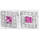 Pendientes Suki rosa - zafiros rosas