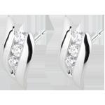 Pendientes Trilogía Brillo Eterno - Romance- oro blanco diamantes - 18 quilates