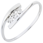 gifts woman Precious Nest Ring - Trillusion - white gold - 18 carats