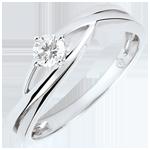 Precious Nest Solitaire - Dova - 0.15 carat diamond - white gold 9 carats