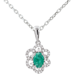 Princess Daisy Emerald Pendant